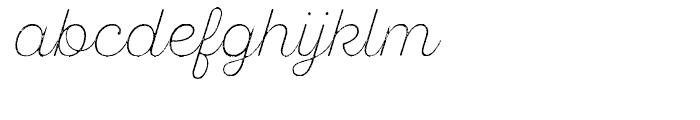 SantElia Rough Alt Extra Light Font LOWERCASE