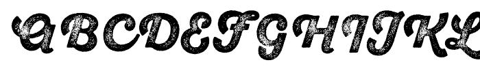 SantElia Rough Black Three Font UPPERCASE