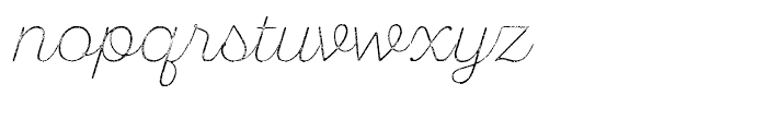 SantElia Rough Extra Light Two Font LOWERCASE