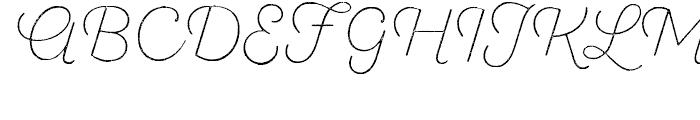 SantElia Rough Extra Light Font UPPERCASE