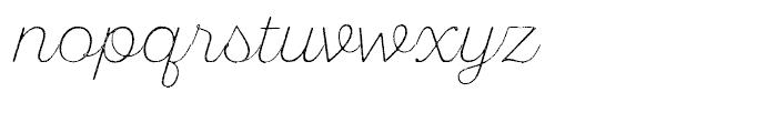 SantElia Rough Extra Light Font LOWERCASE