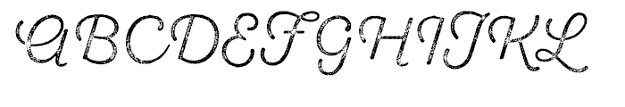 SantElia Rough Light Three Font UPPERCASE