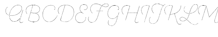 SantElia Rough Line Two Font UPPERCASE