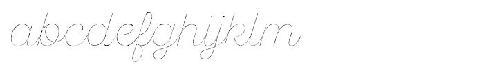 SantElia Rough Line Two Font LOWERCASE