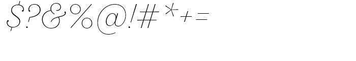 SantElia Script Alt ExLight Font OTHER CHARS