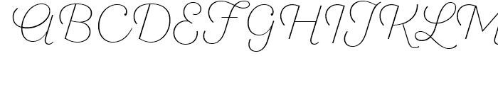 SantElia Script Alt ExLight Font UPPERCASE