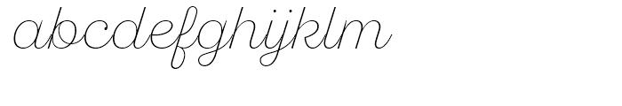 SantElia Script Alt ExLight Font LOWERCASE