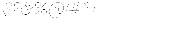 SantElia Script Line Font OTHER CHARS