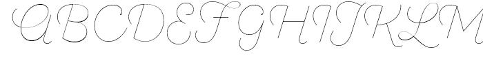 SantElia Script Line Font UPPERCASE