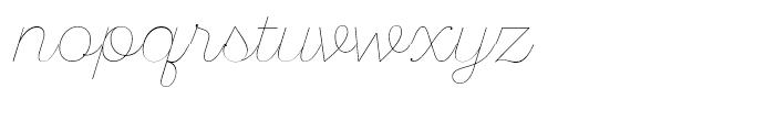 SantElia Script Line Font LOWERCASE