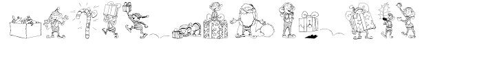Santas Little Helpers Regular Font UPPERCASE