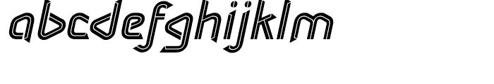 Sargon Medium Italic Font LOWERCASE