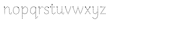 Sassoon Infant Dotted Font LOWERCASE