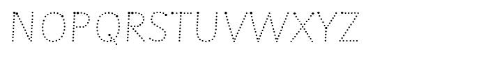Sassoon Montessori Dotted Font UPPERCASE