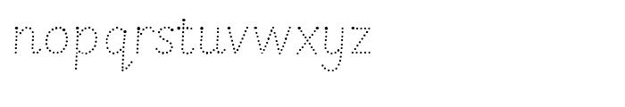 Sassoon Montessori Dotted Font LOWERCASE