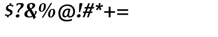 Satero Serif Medium Italic Font OTHER CHARS
