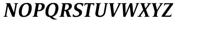 Satero Serif Medium Italic Font UPPERCASE