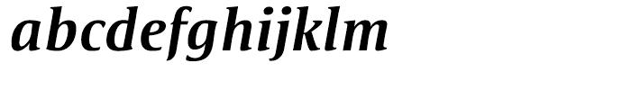 Satero Serif Medium Italic Font LOWERCASE
