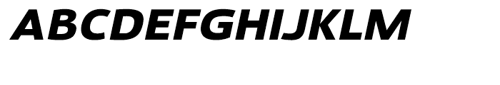 Savigny Black Extended Italic Font UPPERCASE