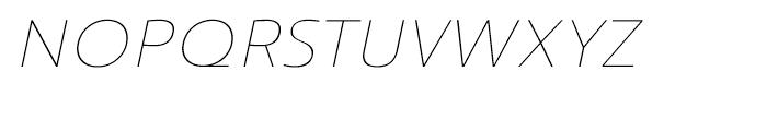 Savigny Thin Extended Italic Font UPPERCASE