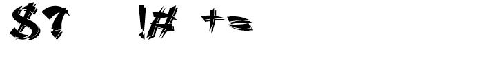 Sayonara Reverse Shadow Font OTHER CHARS