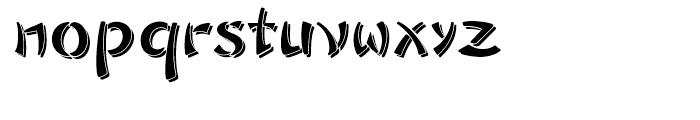 Sayonara Reverse Shadow Font LOWERCASE
