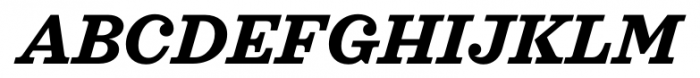 Sagona Bold Italic Font UPPERCASE