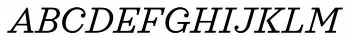 Sagona Book Italic Font UPPERCASE