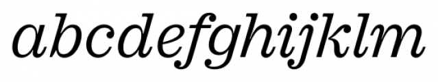 Sagona Book Italic Font LOWERCASE