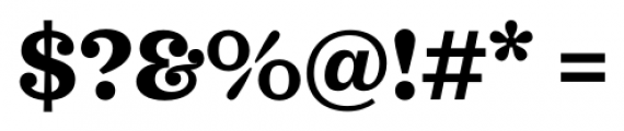 Sagona Extra Bold Font OTHER CHARS