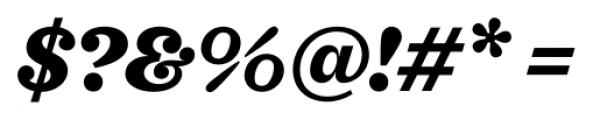 Sagona Heavy Italic Font OTHER CHARS