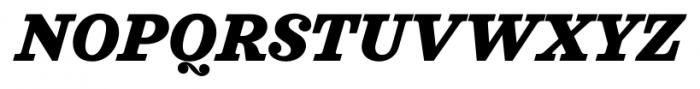 Sagona Heavy Italic Font UPPERCASE