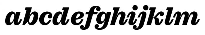 Sagona Heavy Italic Font LOWERCASE