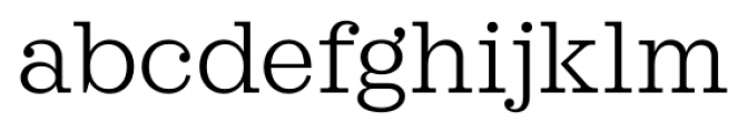 Sagona Light Font LOWERCASE