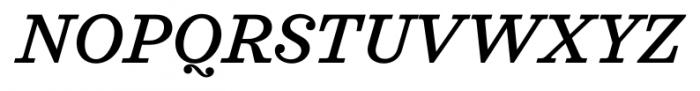 Sagona Medium Italic Font UPPERCASE