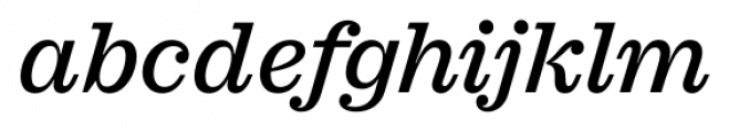Sagona Medium Italic Font LOWERCASE