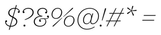 Sagona Thin Italic Font OTHER CHARS