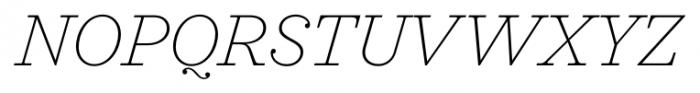 Sagona Thin Italic Font UPPERCASE