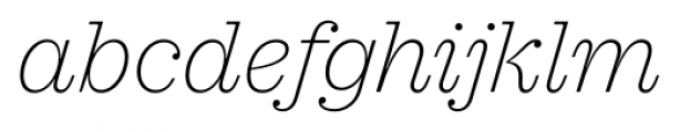 Sagona Thin Italic Font LOWERCASE