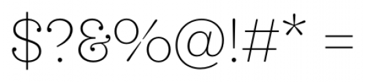 Sagona Thin Font OTHER CHARS