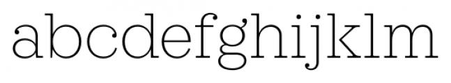 Sagona Thin Font LOWERCASE