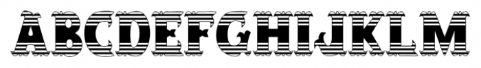 Salloon Stripe Ends Font LOWERCASE