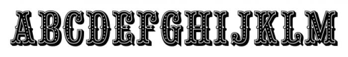 Saloon Girl Dot Font UPPERCASE