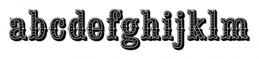 Saloon Girl Dot Font LOWERCASE