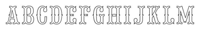 Saloon Girl Fill Lines Font UPPERCASE