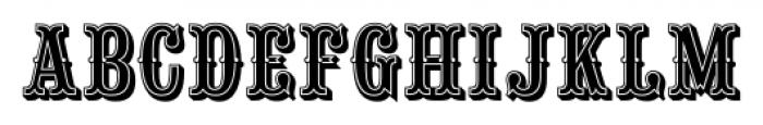Saloon Girl Inline Font UPPERCASE
