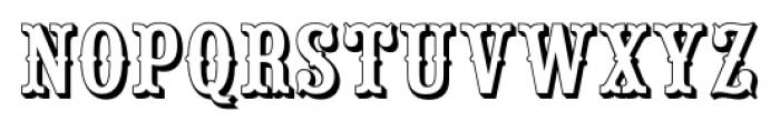 Saloon Girl Open Font UPPERCASE