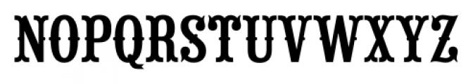Saloon Girl Regular Font UPPERCASE