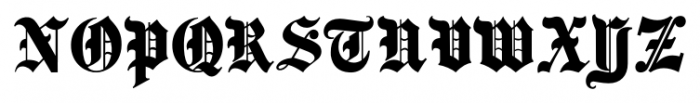 Same Old English JNL Regular Font UPPERCASE