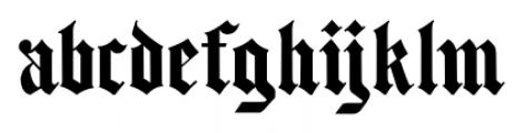 Same Old English JNL Regular Font LOWERCASE